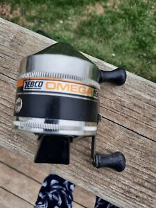 Vintage Rare Zebco Omega 191 Spinning Casting Reel Made in USA Working. Nice!