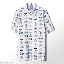 NWT~Adidas Originals NIGO 25 ART SHOE POP Dress SHIRT Button Down AOP Top~Men XL