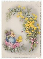 Easter Card Vintage Years 50 Greeting Cards Illustrators Chicks Eggs Primroses