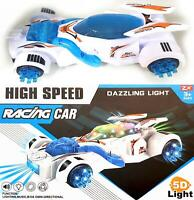 Kids Musical 5D Racing Car Special Lights Boys Girls Toy Christmas Birthday Gift