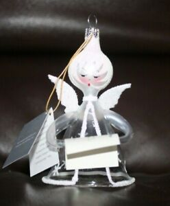 NWT DE CARLINI ANGEL CHRISTMAS ORNAMENT MADE IN ITALY