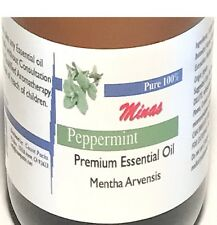 Peppermint Essential Oil 100% Pure 16 Oz plastic Bottle  Mentha Arvensis