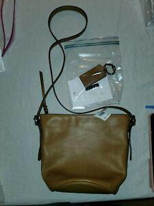 Coach Mini Bleeker Sport Duffle 32281 Brown Leather Cross Body Bag Purse
