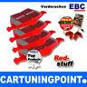 EBC PLAQUETTES DE FREIN AVANT RedStuff pour Audi A3 8L dp31324c