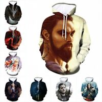 Game of Thrones Jon Snow 3D Printing Men/Women Hoodie Sweatshirt Top Sweater