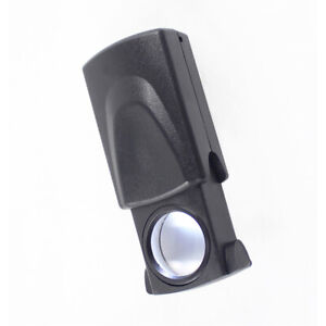 Magnifying Light Jewelry Lens Loupe Glass 21mm Foldable 30X LED for Watch Stamp