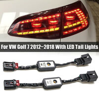 Semi Dynamic LED Indicator Flasher Minibox Adapters Rear Light For VW Golf Mk 7