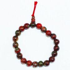 Bracelet porte bonheur : Mala en jaspe brechique (grossesse et protection)