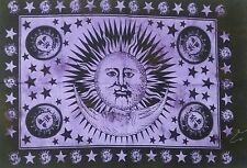 Indian purple sun bohemian cotton poster throw wall hanging hippie home decor