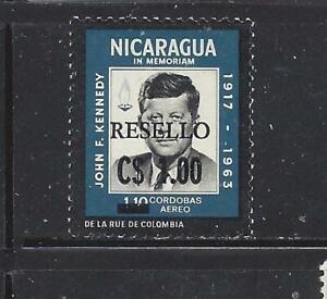 NICARAGUA - C760 - MNH - 1971 - 1 COR NEW VALUE O/P ON PRES JOHN F KENNEDY