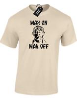 WAX ON WAX OFF MENS T-SHIRT FUNNY KARATE RETRO MIYAGI RETRO MMA