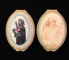 Halcyon Set of 2 Trinket Boxes Commemorating Queen Elizabeth the Queen Mother
