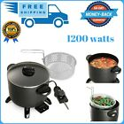 Electric Deep Fryer Dual Daddy Cooker Home Kitchen Countertop Fries photo