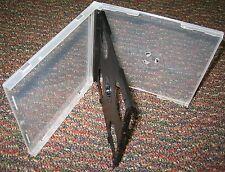 100 CLEAR SLIM TRIPLE CD POLY CASE BLACK TRAY BL1500