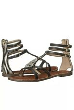 ff68cb6f8 Sam Edelman Giselle Black Leather Gladiator Sandal Sz 8