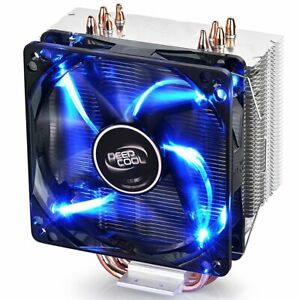 DEEPCOOL GAMMAXX 400 CPU Air Cooler with 4 Heatpipes 120mm PWM Fan and Blue L...
