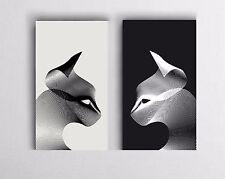 XXL BILD-SET 140x100x5 LEINWAND Graphic-Art MODERN-CAT ABSTRAKT GEMÄLDE IKEA NEU