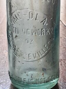 RARE LIME-OLA LIMEOLA BOTTLING WORKS MILLEDGEVILLE Georgia GA BOTTLE Backward S