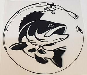 Fisch Aufkleber für Angler Fishing Sticker Boot Auto