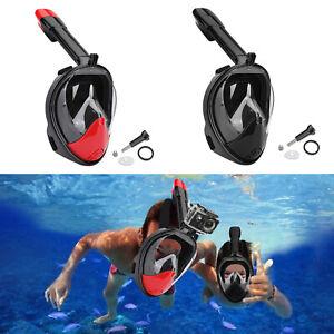 Tauchermaske Snorkel Swim Goggle FullFace Schnorcheln Anti Fog Für GoPro Neu