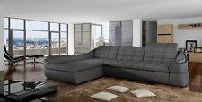 Future Ecksofa mit Schlaffunktion Komfort Modern Eckcouch Bettkasten
