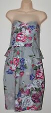 BHS BNWOT Multicoloured Floral Strappy Mini Dress Size 12