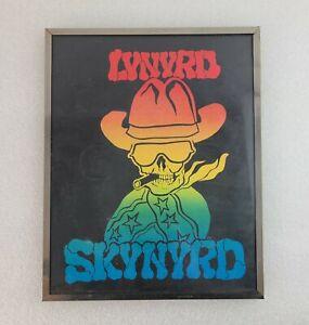Vintage Framed lynyrd skynyrd Rock 'n Roll Carnival Prize Glass framed Picture