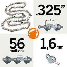 """Chaîne tronçonneuse KERWOOD 56 maillons 0.325"""", 1,6mm"""