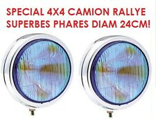 TYPE LIGHTFORCE HELLA CIBIE OSCAR! 2 SUPERBES PHARES 24CM! XENON HID POSSIBLE