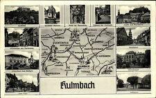 Kulmbach mit Landkarte 1954 Markt Plassenburg Kressenstein Stadtbild Parkhaus