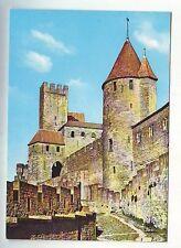 carte postale - carcassonne - le chateau comtal - vierge -