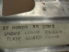 85 HONDA XR 200 R UNDER LOWER ENGINE PLATE GUARD COVER XR200