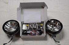 IPF 900XS HID 55W ROUND 4WD DRIVING LIGHT KIT + IPF WIRING LOOM & CLEAR COVERS