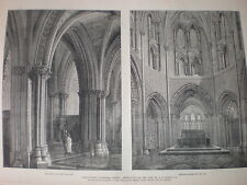 Christchurch Cathedral Dublin Ireland after restoration 1883 old prints