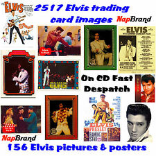 2517 Elvis trading card images + 156 Elvis Posters & Pictures CD Art Craft etc