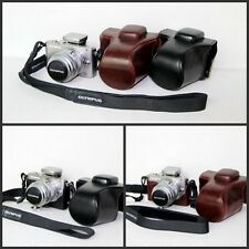 Leather case bag OLYMPUS PEN E-PL3 EPL3 EPM1 E-PM1 camera black or white