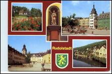 RUDOLSTADT Thüringen DDR Mehrbild-AK mit 4 Ansichten