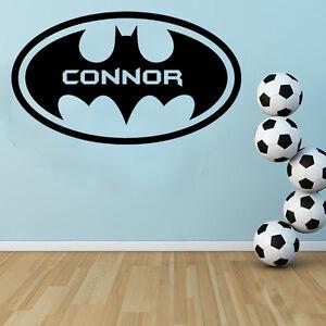 Personalizado - Batman Aplicador Gratis! Adhesivo mural / Infantil Habitación