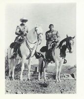 2 Lone Ranger Tonto Penny Arcade Movie TV Star Promo B&W Wallet Photo card 1970s