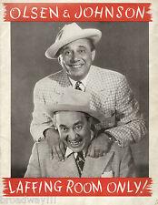"""Olsen & Johnson """"LAFFING ROOM ONLY"""" Betty Garrett 1944 Tryout Souvenir Program"""