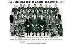 1960 1961 CHICAGO BLACK HAWKS 8X10 TEAM PHOTO HOCKEY NHL HOF ILLINOIS PUCK