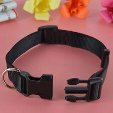 Collier (standard) noirs en nylon pour chien