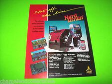 Atari HARD DRIVIN Original 1988 NOS Video Arcade Promo Sales Flyer 1-Sided