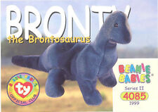Ty Beanie Babies Bboc Card - Series 2 Common - Bronty the Brontosaurus - Nm/Mint