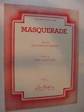 Masquerade Waltz 1932 Paul Webster, John Jacob Loeb  piano lyrics chords