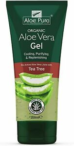 Aloe Pura Organic Aloe Vera Gel + Tea Tree 200ml SIX TUBES