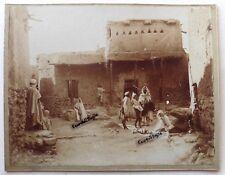 PHOTO rue à BISKRA ALGERIE Maghreb Afrique du nord hommes enfants âne 29x23 AFR5