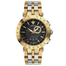 Versace Men's 29G79D009 S079 V-RACE GMT ALARM Date Gold IP Stainless Steel Watch