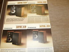 Pioneer HPM-150 HPM-100 HPM-60 HPM-40 speaker original catalogue printed n Japan