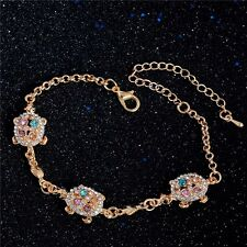 Lucky Turtle Extender Bracelet 18K Gold Plated Colorful Australia Rhinestone